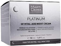 Düfte, Parfümerie und Kosmetik Straffende und regenerierende Anti-Aging Nachtcreme für mehr Elastizität - MartiDerm Platinum Gf Vital Age Night Cream