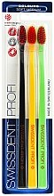 Düfte, Parfümerie und Kosmetik Zahnbürste mittel Profi Colours schwarz, gelb, grün 3 St. - SWISSDENT Profi Colours Soft-Medium Trio-Pack