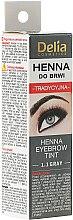Düfte, Parfümerie und Kosmetik Creme-Farbe für Augenbrauen Graphit - Delia Brow Dye Henna Traditional
