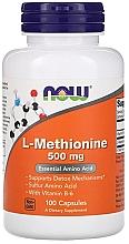 Düfte, Parfümerie und Kosmetik Nahrungsergänzungsmittel L-Methionin 500 mg - Now Foods L-Methionine Capsules