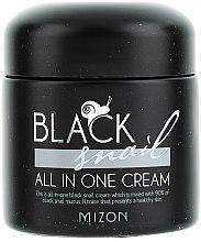 Düfte, Parfümerie und Kosmetik Feuchtigkeitsspendende, reparierende und porenverfeinernde Gesichtscreme mit schwarzem Schneckenfiltrat - Mizon Black Snail All In One Cream