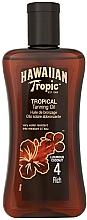 Düfte, Parfümerie und Kosmetik Bräunungsöl mit Kokosnuss SPF 4 - Hawaiian Tropic Tropical Tanning Oil Coconut SPF 4