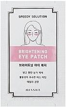 Düfte, Parfümerie und Kosmetik Augenpatches gegen dunkle Augenringe - Missha Speedy Solution Brightening Eye Patch
