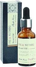 Düfte, Parfümerie und Kosmetik Bath House Spanish Fig and Nutmeg - Natürliches Bartöl mit Traubenkern-, Bergamotten- und Feigenöl