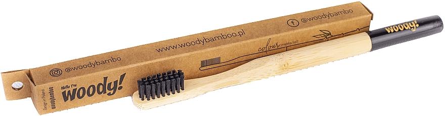 Bambuszahnbürste weich Colour schwarz - WoodyBamboo Bamboo Toothbrush — Bild N1
