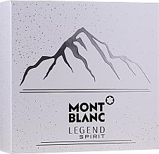 Düfte, Parfümerie und Kosmetik Montblanc Legend Spirit - Duftset (Eau de Toilette 100ml + After Shave Balsam 100ml + Duschgel 100ml)