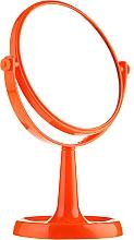 Düfte, Parfümerie und Kosmetik Kosmetikspiegel mit Ständer 85734 rund 15,5 cm orange - Top Choice Colours Mirror