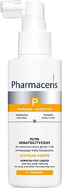 Kopfhaut-Flüssigkeit gegen Psoriasis-Läsionen und chronischen Schuppen - Pharmaceris P Ichtilix Forte