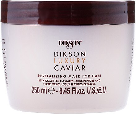 Regenerierende Haarmaske mit Kaviar und Algen-Extrakt - Dikson Luxury Caviar Revitalizing Mask For Hair