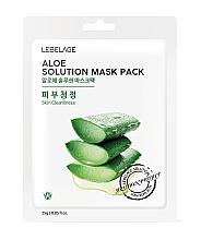 Düfte, Parfümerie und Kosmetik Feuchtigkeitsspendende Tuchmaske für das Gesicht mit Aloe Vera-Extrakt - Lebelage Aloe Solution Mask