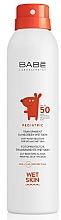 Düfte, Parfümerie und Kosmetik Sonnenschutzspray für trockene und feuchte Haut SPF 50+ - Babe Laboratorios Pediatric Wet Skin