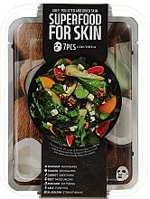 Düfte, Parfümerie und Kosmetik Gesichtspflegeset - Superfood For Skin Grey Polluted And Dried Skin (Gesichtsmasken 7x25ml)