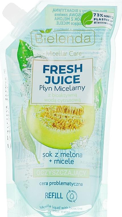 Mizellen-Reinigungswasser Melone - Bielenda Fresh Juice Detoxifying Face Micellar Water Melon (Refill)