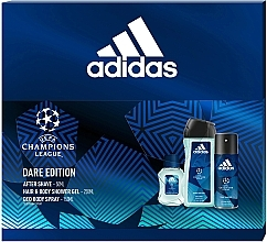 Düfte, Parfümerie und Kosmetik Adidas UEFA Dare Edition - Duftset (Duschgel 250ml + Deospray 150ml + After Shave Lotion 50ml)