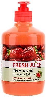"""Cremeseife mit feuchtigkeitsspendende Reismilch """"Erdbeere & Guave"""" mit Spender - Fresh Juice Strawberry&Guava"""