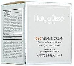 Düfte, Parfümerie und Kosmetik Straffende Creme mit Vitamin C, Sheabutter und Rosenöl LSF 10 - Natura Bisse C+C Vitamin Firming Cream SPF 10