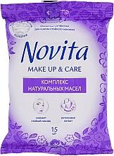 Düfte, Parfümerie und Kosmetik Pflegende Feuchttücher zum Abschminken mit natürlichen Ölen - Novita Delicate