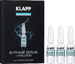 Düfte, Parfümerie und Kosmetik Zweiphasiges Gesichtsserum mit Hyaluronsäure - Klapp Bi-Phase Serum Hyaluron