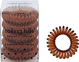 Düfte, Parfümerie und Kosmetik Spiral-Haargummis 5 St. braun - Rolling Hills 5 Traceless Hair Rings Coffee