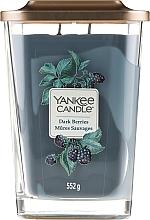 Düfte, Parfümerie und Kosmetik Duftkerze im Glas Dark Berries - Yankee Candle Dark Berries Elevation Square Candles