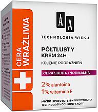 Düfte, Parfümerie und Kosmetik Gesichtscreme gegen Irritationen für trockene und normale Haut - AA Technolgia Wieku Cera Wrażliwa Cream For All Skin Types