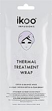 Düfte, Parfümerie und Kosmetik Entgiftende und regenerierende Haar- und Kopfhautmaske mit Blaubeer-, Brombeer- und Seetang-Extrakten - Ikoo Infusions Thermal Treatment Wrap