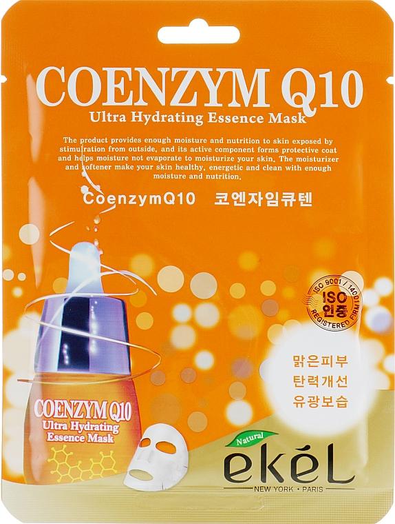Feuchtigkeitsspendende Tuchmaske für das Gesicht mit Coenzym Q10 - Ekel Coenzym Q10 Ultra Hydrating Essence Mask
