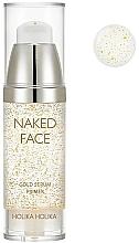 Düfte, Parfümerie und Kosmetik Gesichtsserum-Primer mit Perlenextrakt und Gold - Holika Holika Naked Face Gold Serum Primer