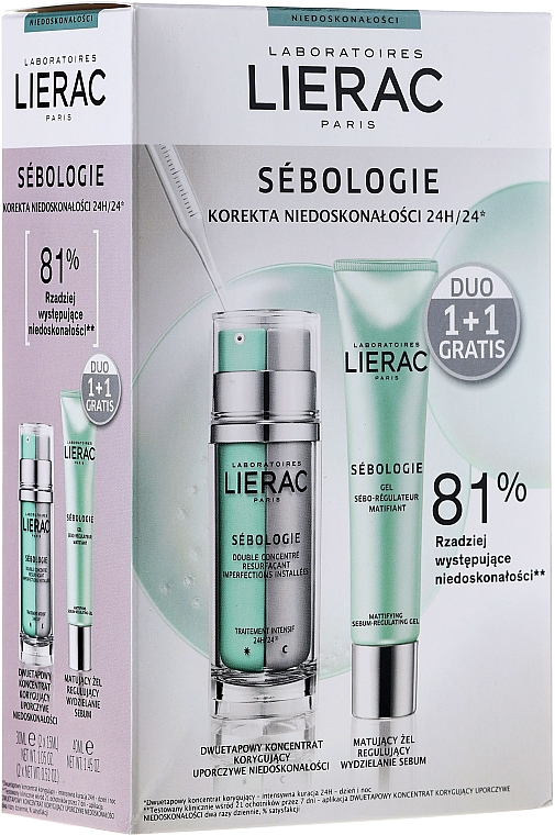 Gesichtspflegeset - Lierac Sebologie Correction Imperfection (Gesichtskonzentrat 30ml + Gesichtsgel 40ml)
