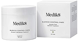Düfte, Parfümerie und Kosmetik Alkoholfreie feuchtigkeitsspendende Gesichtsreinigungspads gegen Pickel mit Salicylsäure - Medik8 Blemish Control Pads