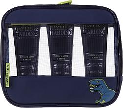 Düfte, Parfümerie und Kosmetik Gesichtspflegeset - Baylis & Harding Men's Citrus Lime & Mint Bag (Haar- und Körperseife 100ml + Gesichtsseife 100ml + After Shave Balsam 100ml + Kosmetiktasche)