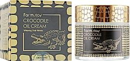 Düfte, Parfümerie und Kosmetik Gesichtscreme gegen Falten mit Krokodilfett - FarmStay Crocodile Oil Cream