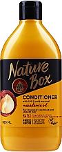 Düfte, Parfümerie und Kosmetik Pflegende feuchtigkeitsspendende und glättende Haarspülung mit Macadamiaöl - Nature Box Macadamia Oil