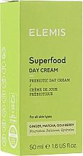 Düfte, Parfümerie und Kosmetik Feuchtigkeitsspendende Gesichtscreme mit Ingwer, Matcha Tee und Goji-Beere - Elemis Superfood Day Cream