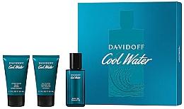 Düfte, Parfümerie und Kosmetik Davidoff Cool Water - Duftset (Eau de Toilette 40ml + Duschgel 50ml + After Shave Balsam 50ml)