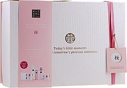 Düfte, Parfümerie und Kosmetik Körperpflegeset - Rituals The Ritual of Sakura Ceremony XL (Körperpeeling 250ml + Duschgel 200ml + Körpercreme 200ml + Flüssigseife 300ml + Körpernebel 50ml + Kerze 290g)