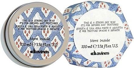 Trockenwachs für das Haar - Davines More Inside Strong Dry Wax — Bild N1