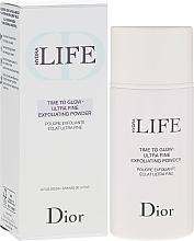 Düfte, Parfümerie und Kosmetik Glänzendes Peeling-Puder mit Zucker und Lotussamen - Dior Hydra Life Time To Glow Ultra Fine Exfoliating Powder