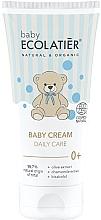 Düfte, Parfümerie und Kosmetik Pflegende Babycreme für täglichen Gebrauch mit Bisabolol, Oliven- und Kamillenextrakt - Ecolatier Baby Daily Care