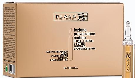 Haarlotion in Ampullen gegen Haarausfall mit Panthenol und Plazenta - Black Professional Line Panthenol & Placenta Lotion