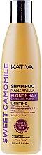 Düfte, Parfümerie und Kosmetik Pflegendes Shampoo für gefärbtes und gebleichtes Haar mit Eigelb und Weizenkeime - Kativa Sweet Camomile Shampoo