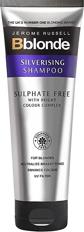 Sulfatfreies Silber-Shampoo für blondes Haar - Jerome Russell Bblonde Silverising Sulphate Free Brightening Shampoo