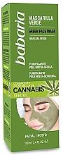 Düfte, Parfümerie und Kosmetik Reinigende Gesichtsmaske mit Hanfsamenöl - Babaria Cannabis