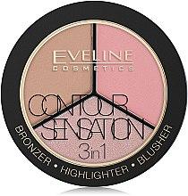 Düfte, Parfümerie und Kosmetik Highlighter Gesichtspalette - Eveline Cosmetics Contour Sensation