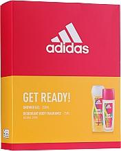 Adidas Get Ready! For Her - Körperpflegeset (Parfümiertes Körperspray 75ml + Duschgel 250ml) — Bild N1
