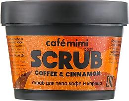 Düfte, Parfümerie und Kosmetik Antioxidatives tonisierendes und nährendes Körperpeeling mit Kaffee und Zimt - Cafe Mimi Body Scrub Coffee & Cinnamon