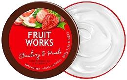 Düfte, Parfümerie und Kosmetik Körperbutter Erdbeeren & Pomelo - Grace Cole Fruit Works Body Butter Strawberry & Pomelo