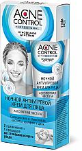 Düfte, Parfümerie und Kosmetik Nachtcreme für das Gesicht gegen Akne mit Salbei, Zink, Salicyl- und Glykolsäure - Fito Kosmetik Acne Control Professional