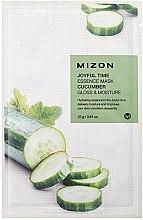 Düfte, Parfümerie und Kosmetik Feuchtigkeitsspendende Tuchmaske für das Gesicht mit Gurkenextrakt - Mizon Joyful Time Essence Mask Cucumber
