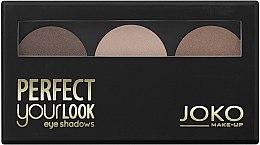 Düfte, Parfümerie und Kosmetik Dreifach-Farbe Lidschatten - Joko Perfect Your Look Trio Eye Shadows